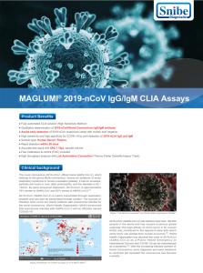 Maglumi 2019-nCoV IgG/IgM CLIA Assays